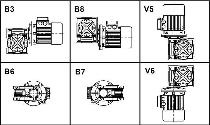 Одноступенчатые червячные мотор-редукторы NMRV